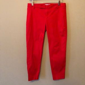 GAP | Slim Cropped Capris | Red | 6